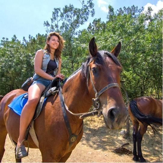 Конные прогулки в Уч Коше, цена — 1800 рублей