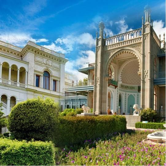 Два дворца — Воронцовский и Ливадийский. Цена — 1000 рублей.